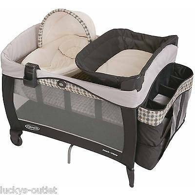 Graco Pack 'N Play Play Playard Pen W/ Napping Station Elite Bassinet Vance