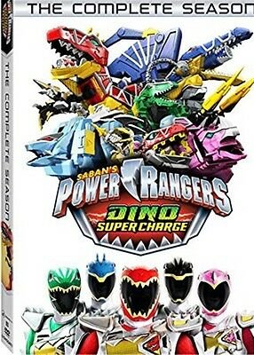 POWER RANGERS DINO SUPER CHARGE THE COMPLETE SEASON New Sealed 4 DVD Set