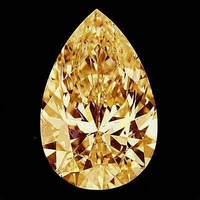 ORANGE CHAMPAGNE DIAMOND LUSTRE MOISSANITE PEAR, 8.0mm, VVS