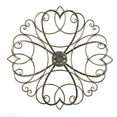 Scroll Work Hanging Metal Wall Art 80cm | BIG Victorian Style Sculpture