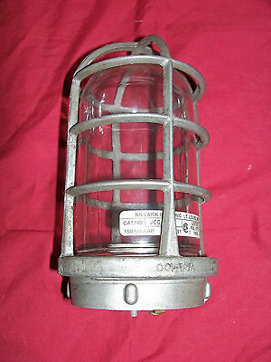 Vintage Industrial Light Lighting Vapor Explosion Proof Killark VAG-100 Fixture