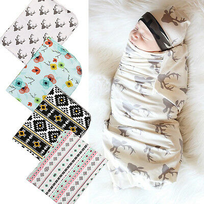 US Stock Newborn Infant Baby Floral Swaddle Wrap Swaddling Sleeping Bag Blanket