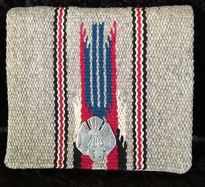 Vintage 1950's GANSCRAFT Hand Woven Hand Tailored Wool Chimayo Purse Clutch