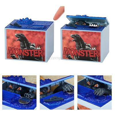 Godzilla Movie Music Cartoon Moving Electronic Coin Saving Piggy Bank Boxes Hot