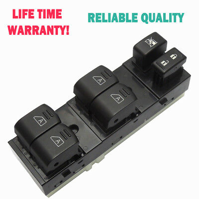 Front Master Power Window Switch LH Driver Side for Infiniti G35 G37 Q40