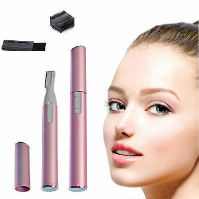 Women's Lady Face Hair Electric Eyebrow Trimmer Men Shaver Remover Razor Set