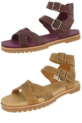 f068509f2ef5 Timberland Sample Women s Natoma X Strap Leather Ankle Strap Sandals Us 7  Eu 38