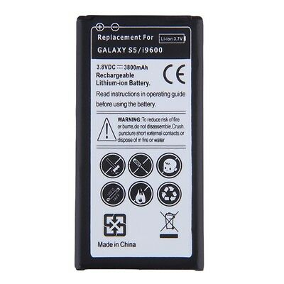 Replacement Li-ion Battery For Samsung Galaxy S5/i9600 EB-BG900BBE 3800mAh LX