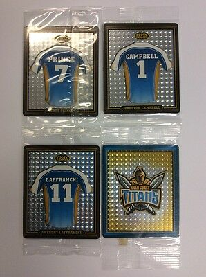 2009 NRL FOOTY FRAMES TAZOS GOLD COAST TITANS SET of 4 NEW AND SEALED