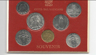 1941-1963 Vatican Souvenir Mint Set 7 coins Pope Pius XII  Original Holder 1942