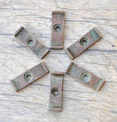 "VTG Brass cast Cabinet Cupboard Door Catch Twist  Turn LATCH 1.2"" Farm deco 6pcs"
