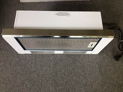 Schweigen 1350 600mm Silver Slide out Rangehood *can use as white with films on