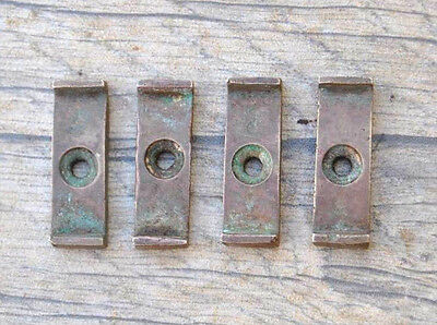 "VTG Brass cast Cabinet Cupboard Door Catch Twist  Turn LATCH 1.2"" Farm deco 4pcs"
