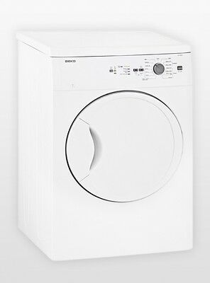 Beko 7kg Sensor Controlled Vented Dryer DV7220X with 5 Year Warranty .