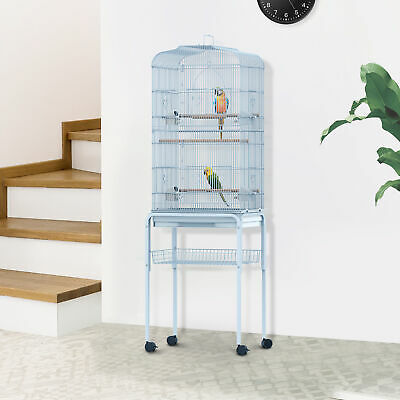 "PawHut 63"" Large Pet Bird Cage Play Top Parrot Finch Macaw Cockatoo w/Wheels New"