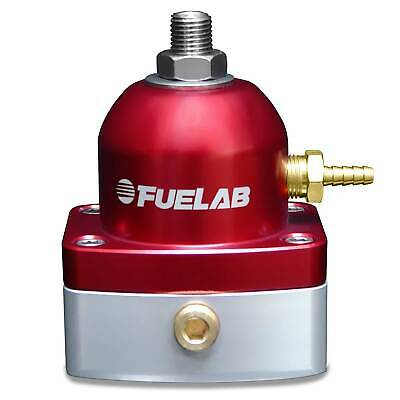 Fuelab Carburettor Fuel Pressure Regulator -6 JIC Inlet - Red 4-12 PSI
