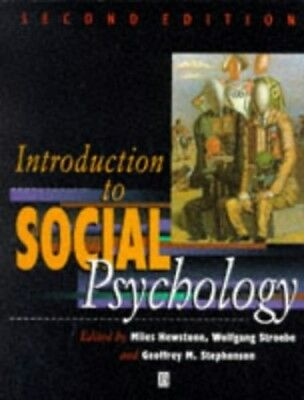 Introduction to Social Psychology: A European Perspective Paperback Book The