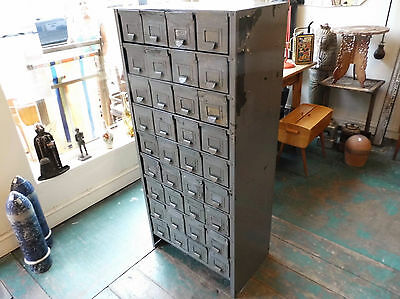 Vintage Metal Bank 36 Drawers, Industrial Cabinet, Apothecary, Multi, Delivery