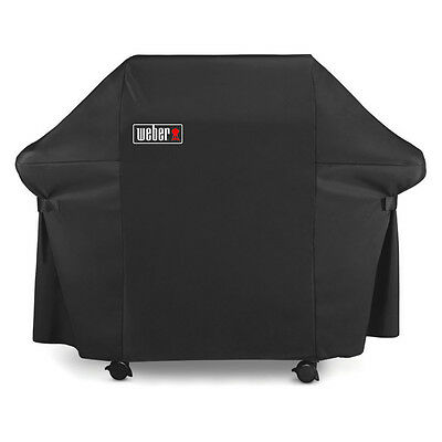 Weber 7107 Grill Cover with Black Storage Bag for Genesis 300 Series Gas Grills