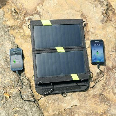 Solar Panel Charger Foldable Sunpower Dual Output Power Bank Camping Outdoor New