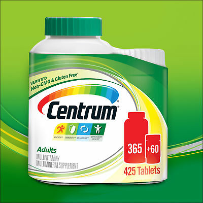 425 Tablet Centrum 365 + 60 2 Bottles Multi-Vitamin For Men & Women under 50