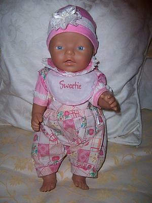 Baby Born Doll Zapf Creations Drink Wet Vinyl Original Outfit Tagged
