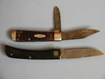 LOT - 2 Vintage Case XX Folding Pocket Knives