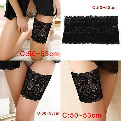 Women Summer Lace Elastic Socks Anti-Chafing Thigh Bands Prevent Sock Nice C