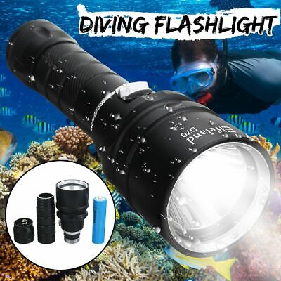 Waterproof 10000Lm T6 LED Scuba Diving Flashlight Torch Light Underwater 100m