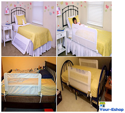 Swing Down Bed Rail Safety Rail Guard Railing For Kids Toddler Children Baby Kid