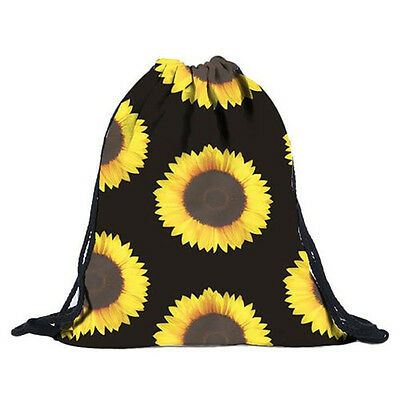 Rucksack Unisex Sunflower Backpacks 3D Printing Bags Drawstring Backpack A5A3