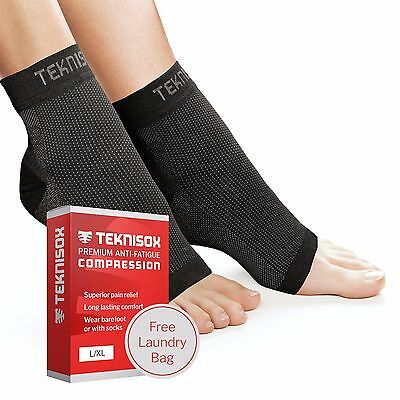 Plantar Fasciitis Socks - Teknisox Compression Foot Sleeve Support - Pain Relief
