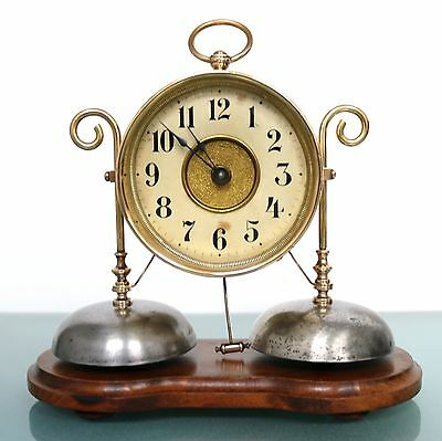 CLOCK Alarm/Mantel JUNGHANS Museum Quality! ANTIQUE 1910s Germany FULLY RESTORED