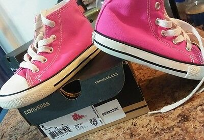 0eb799968106 NEW TODDLER GIRLS Converse CTAS 2V Ox Shoes 2 Strap Pink   White ...