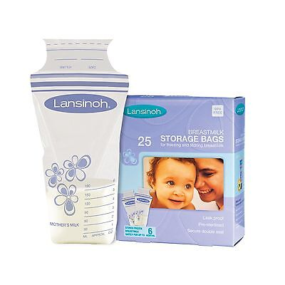 Lansinoh Breastmilk Storage Bags Pack of 25 Brand New Free PP High Quality