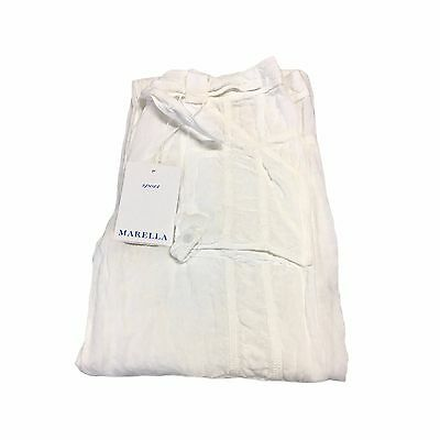 MARELLA SPORT trousers white woman with pockets 100% linen