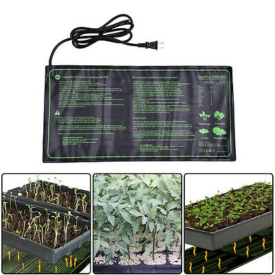 "Seedling Heat Mat 10"" x 21"" Seed Starter Pad for Germination Propagation Cloning"