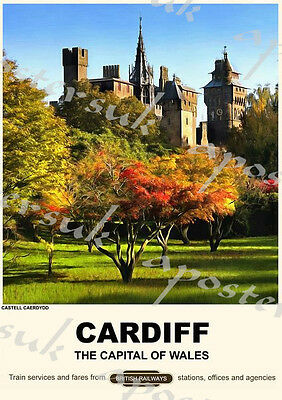 Vintage Style Railway Poster Cardiff A4/A3/A2 Print