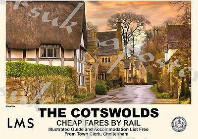 A2 Print 1950 British Railway Poster Colchester A3