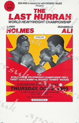 Vintage Larry Holmes Muhammad Ali Boxing Poster A3/A4 Print