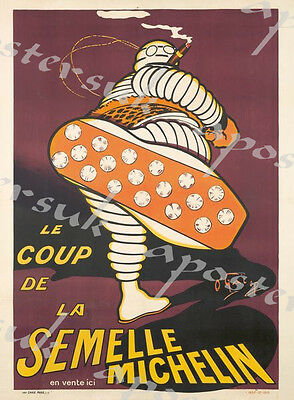 Vintage French Michelin Tyres Advertisement Poster A3/A4 Print
