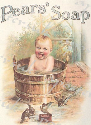 Early Twentieth Century Pears Soap Baby Advertisement Poster A3/A4 Print