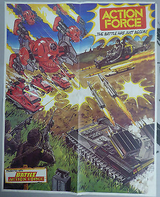 """Action Force Poster - From Battle Comics - 16""""x20"""" - Rare"""