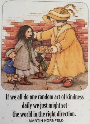 Handmade Fridge Magnet-Mary Engelbreit Artwork-If We All Do One Random Act