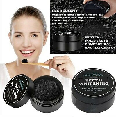 30g Natural Teeth Whitening Powder Organic Activated Charcoal Bamboo Toothpaste
