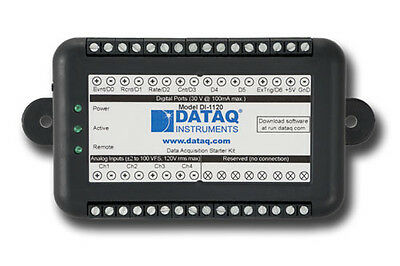 DI-1120 Data Acquisition USB DAQ System, 14-bit, 160 kHz, ±100 V range