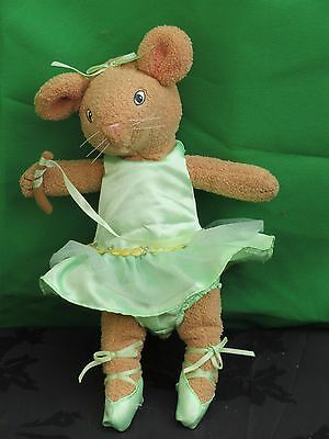 Angelina Ballerina Alice brown Mouse soft plush toy. 11 inches high. 2002
