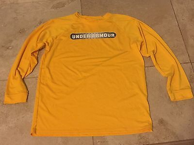 Boys Girl Under Armour Long Sleeve T-shirt Size Youth Large Yellow  NWOT