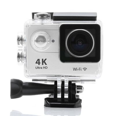 4K 16MP HD Sports Action Camera wifi Waterproof Helmet Cam for Go pro bag White