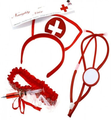 Instant Naughty Nurse Set Fancy Dress Costume Halloween Outfit Accessories Adult